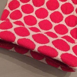 Boden Tops - BODEN Jacquard Knit Polka Dot Top Red & Cream Sz 8